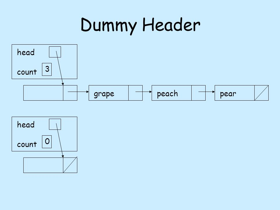 Dummy Header grapepeachpear head count 3 head count 0