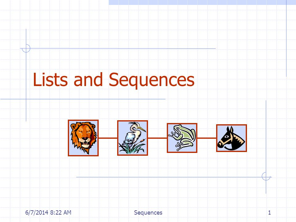 6/7/2014 8:24 AMSequences1 Lists and Sequences