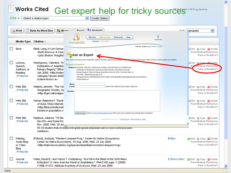 Get expert help for tricky sources