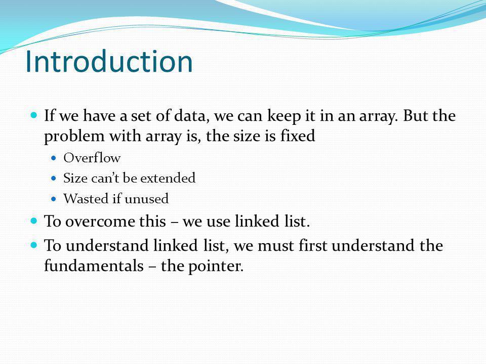 Array Linked List - Traverse void TraverseList (List *list) { ListIndex current; for (current= list->head ; current != -1; workspace[current].next) printf(data of workspace[%d].entry = %c, current, workspace[current].entry); }