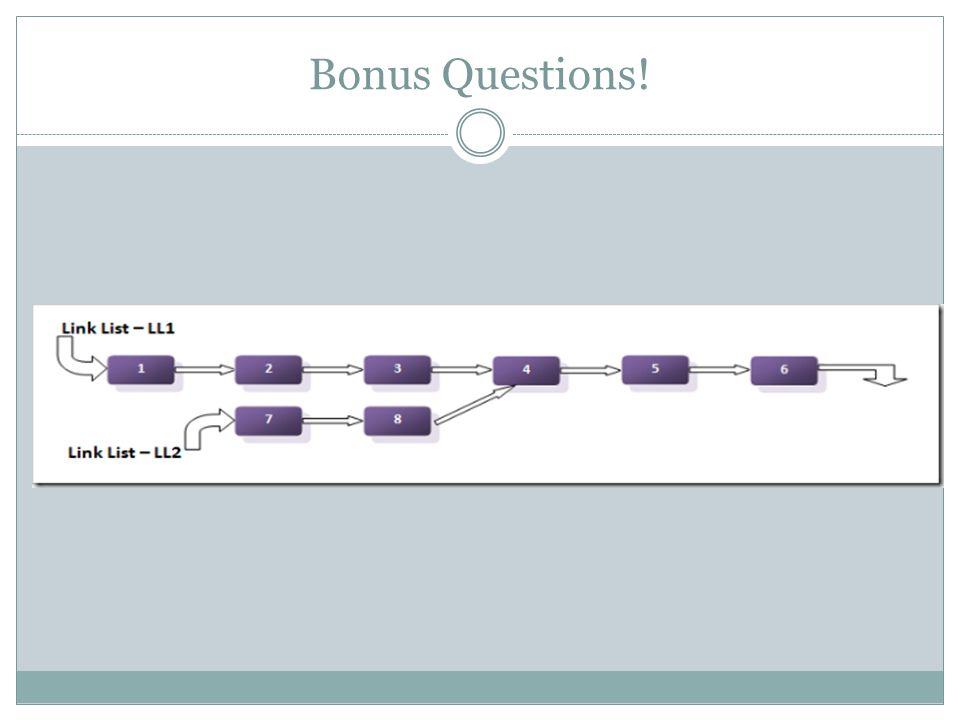 Bonus Questions!