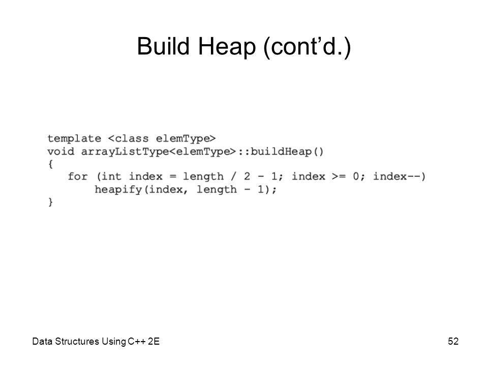 Data Structures Using C++ 2E52 Build Heap (contd.)