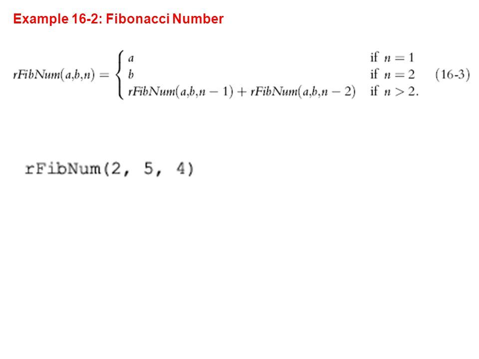 Example 16-2: Fibonacci Number
