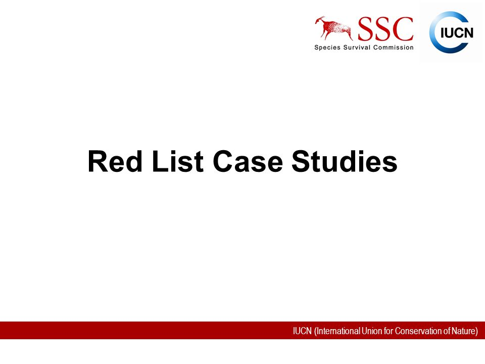IUCN (International Union for Conservation of Nature) Red List Case Studies
