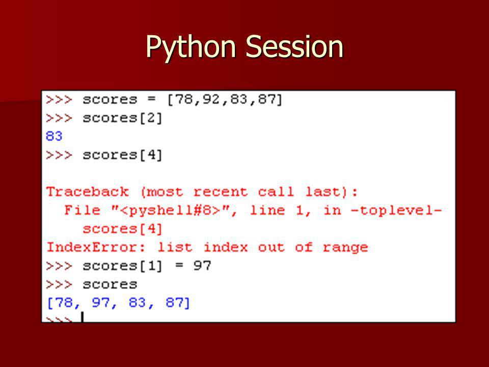 Python Session