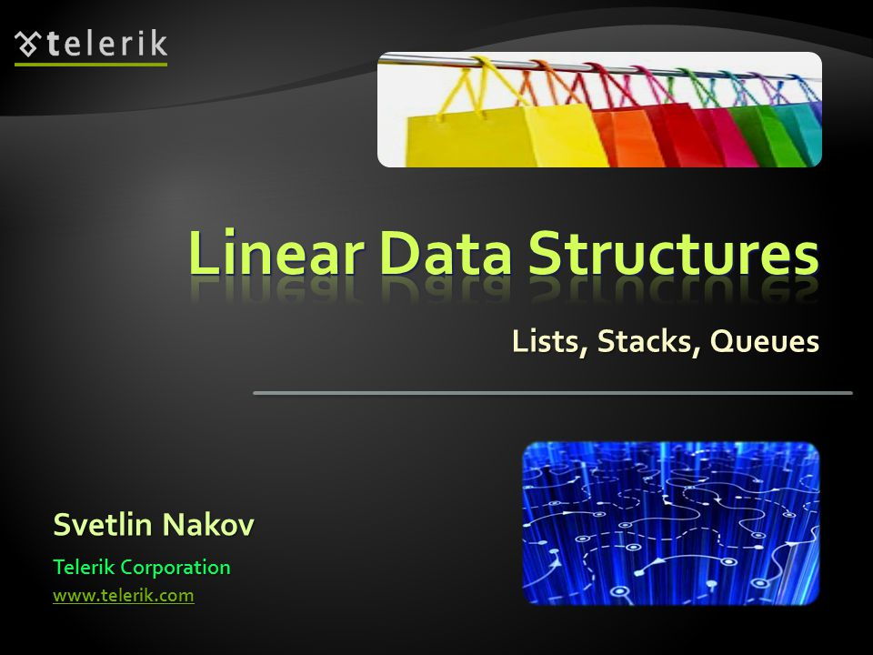 Implements the abstract data structure list using an array Implements the abstract data structure list using an array All elements are of the same type T All elements are of the same type T T can be any type, e.g.