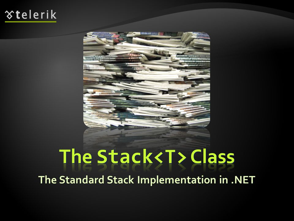 The Standard Stack Implementation in.NET