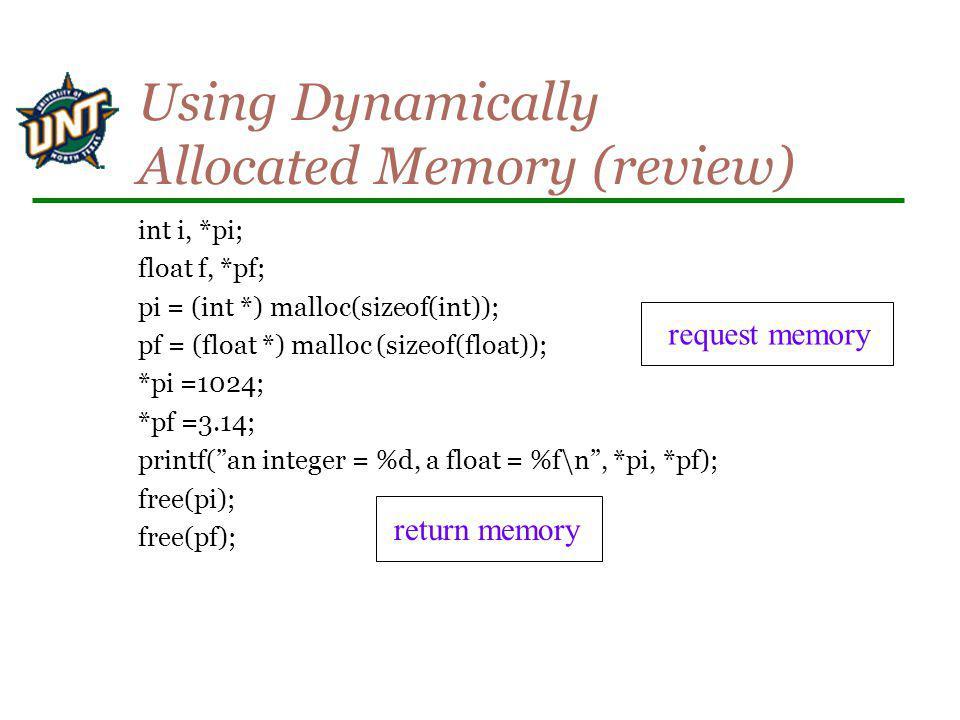 void removeAfter(pnode node) { /* delete what follows after node in the list */ pnode tmp; if (node) { tmp = node -> next; node->next = node->next->next; free(tmp); } } 10 20 NULL 50 20 NULL 10 node