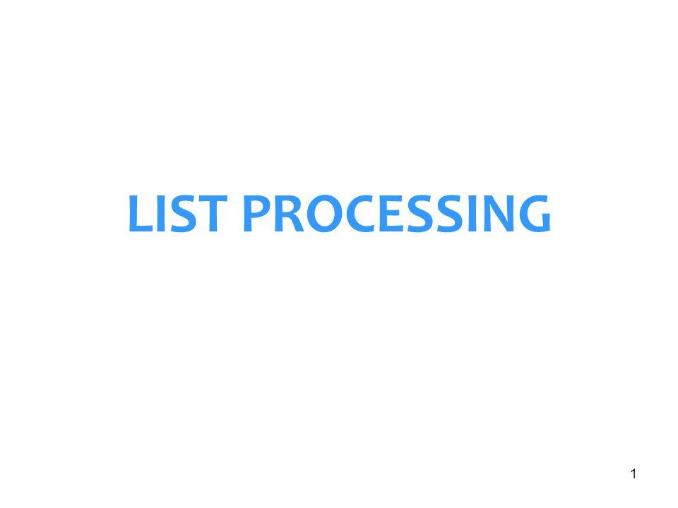 1 LIST PROCESSING