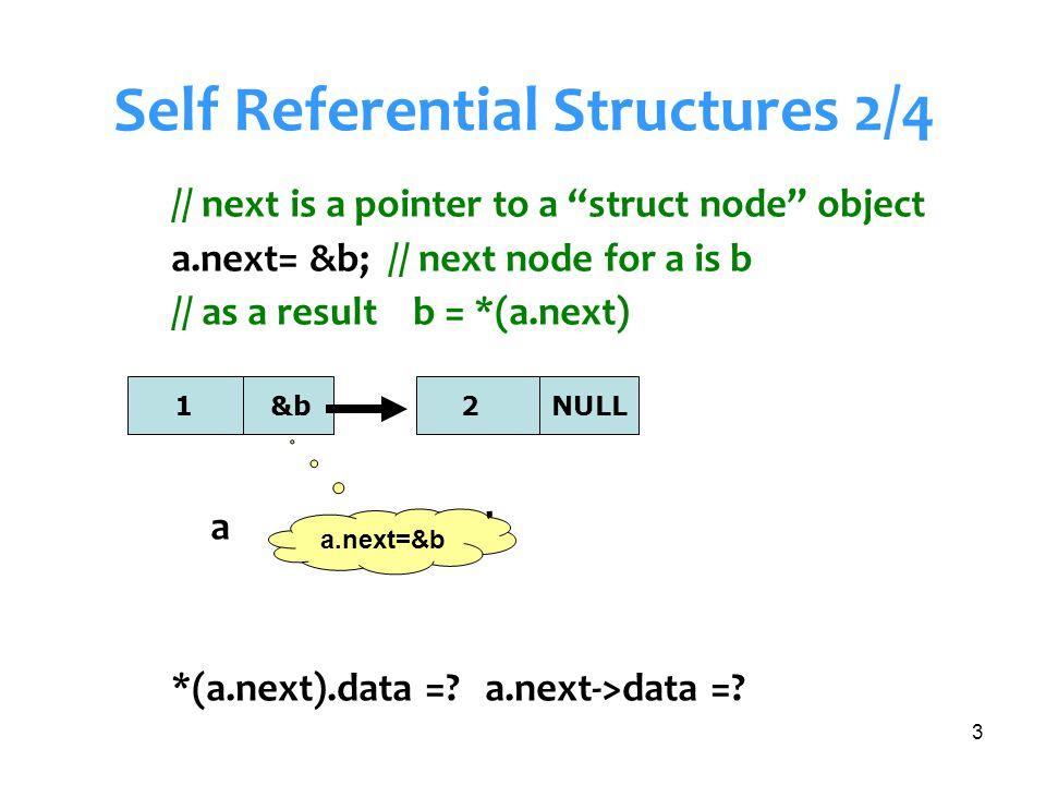 Senem Kumova Metin14 Example 2 : In main() add from tail typedef struct node {int data; struct node *next; } NODE; main() {int x[4]={1,2,3,4}; NODE * head=NULL; NODE * tail=NULL; for (i=0; i<4; i++) { if(head==NULL) // FIRST NODE IN LIST { head=malloc(sizeof(NODE)); head->data=x[i]; head->next =NULL; tail=head;} else { tail->next=malloc(sizeof(NODE)); tail=tail->next; tail->data=x[i]; tail->next=NULL;}}