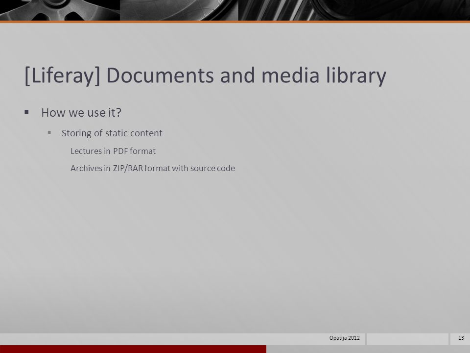 [Liferay] Documents and media library How we use it.