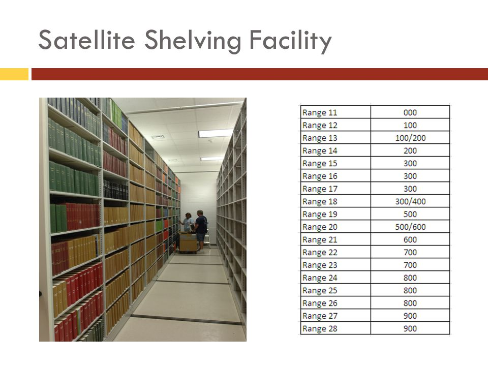 Satellite Shelving Facility
