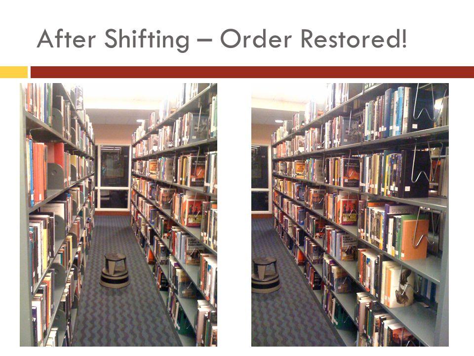 After Shifting – Order Restored!