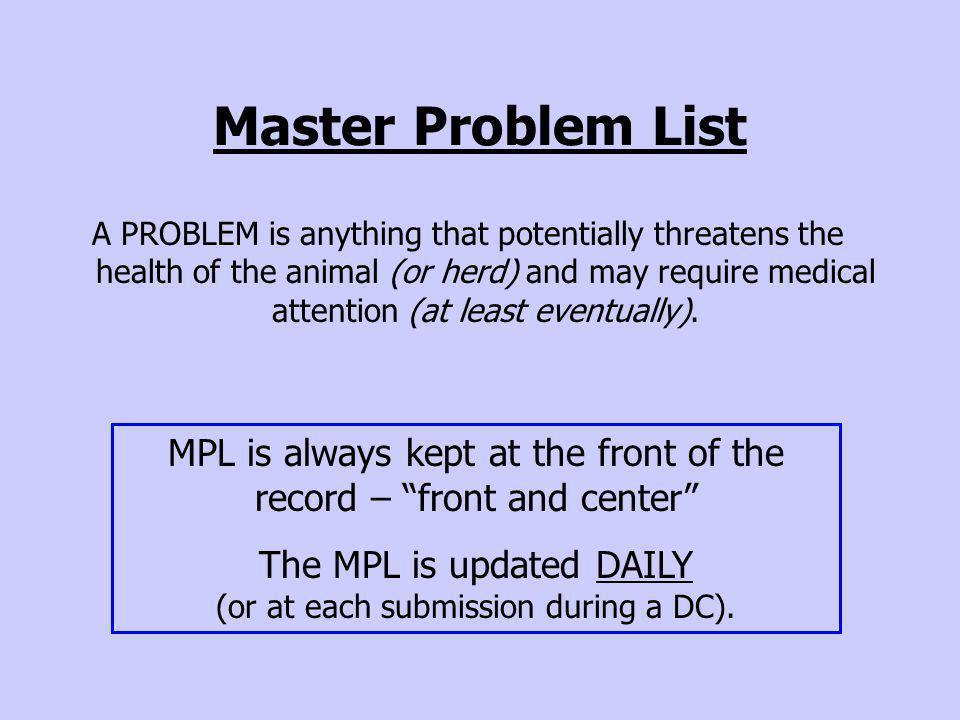 DfDxs for the Problem: Localization Process (e.g.