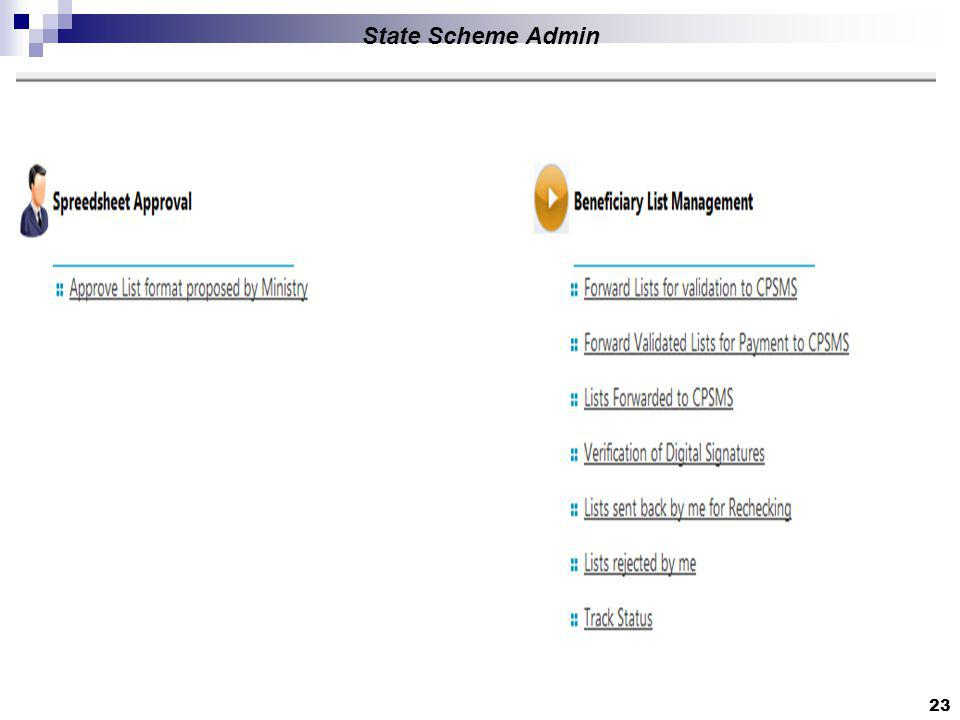 23 State Scheme Admin