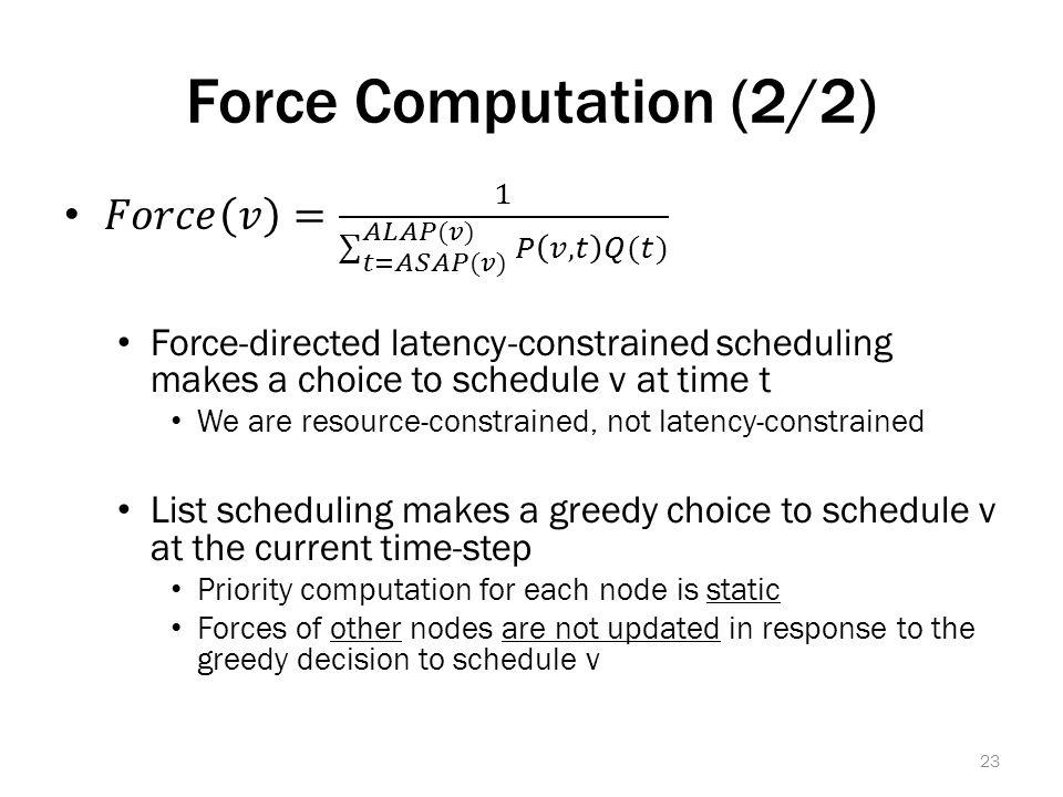 Force Computation (2/2) 23