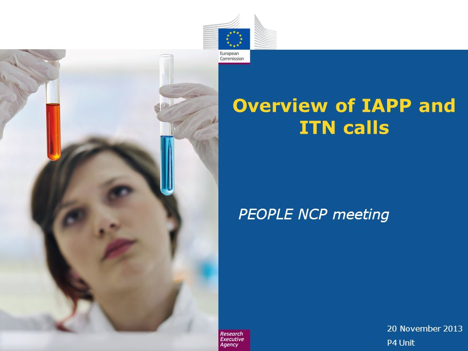 Overview of IAPP and ITN calls PEOPLE NCP meeting 20 November 2013 P4 Unit