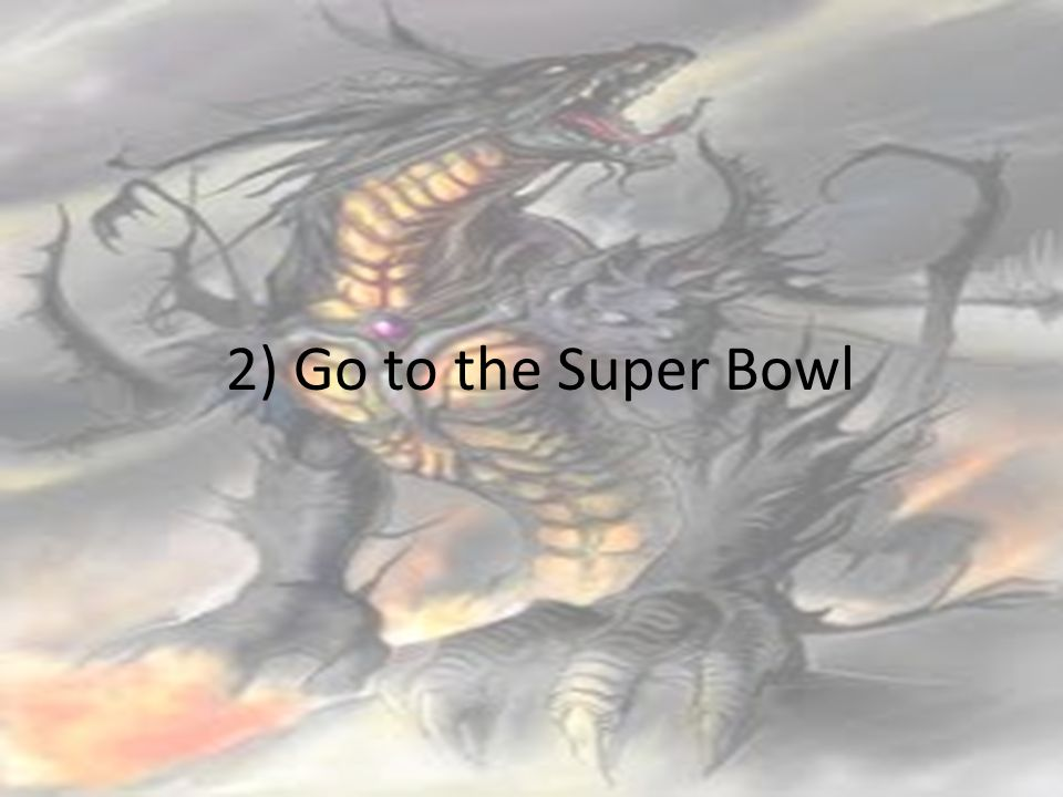 2) Go to the Super Bowl