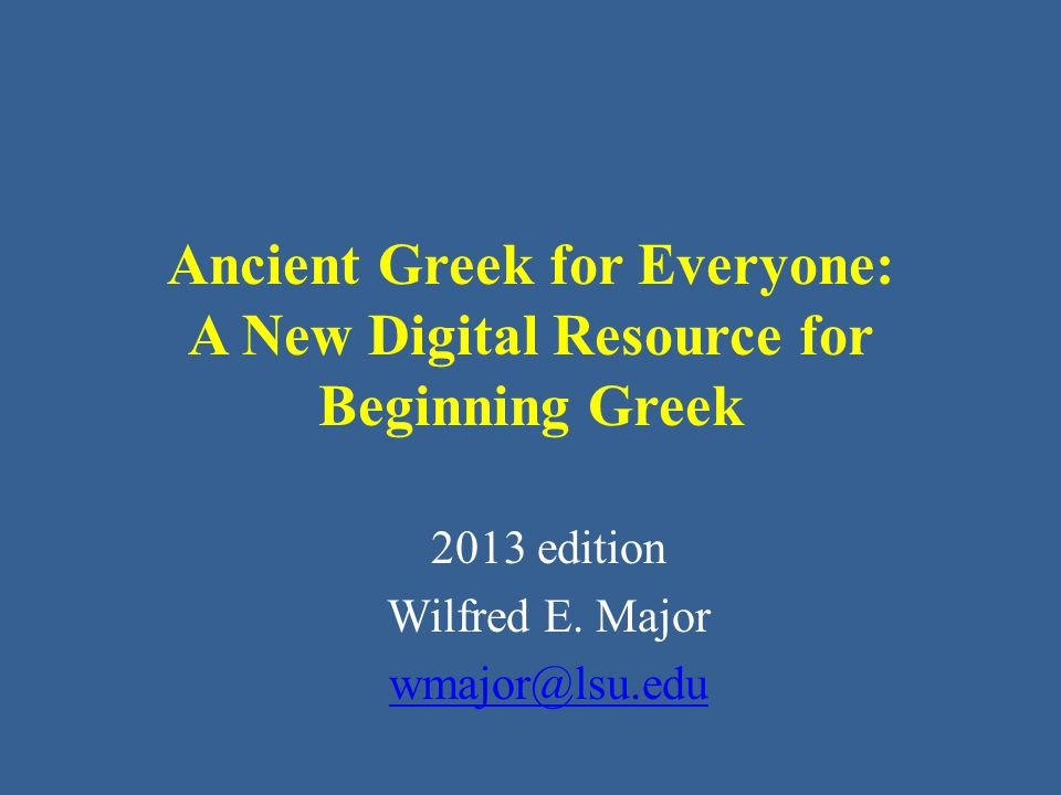 Ancient Greek for Everyone The method and purpose of the vocabulary lists – The DCC list is designed to serve as the high frequency core vocabulary list for all intermediate readers of Classical Greek.