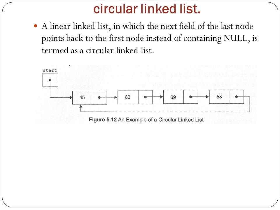 circular linked list.