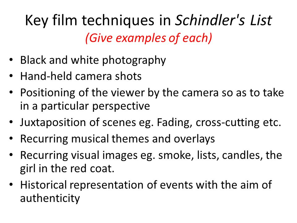 Key Scene in Schindlers List A key scene in the film is the liquidation of the Krakow Ghetto.