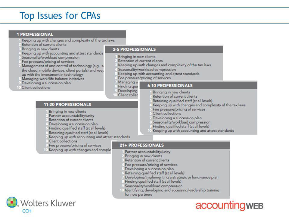 Top Issues for CPAs