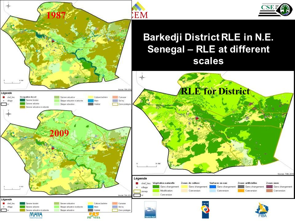 1987 2009 Barkedji District RLE in N.E. Senegal – RLE at different scales RLE for District
