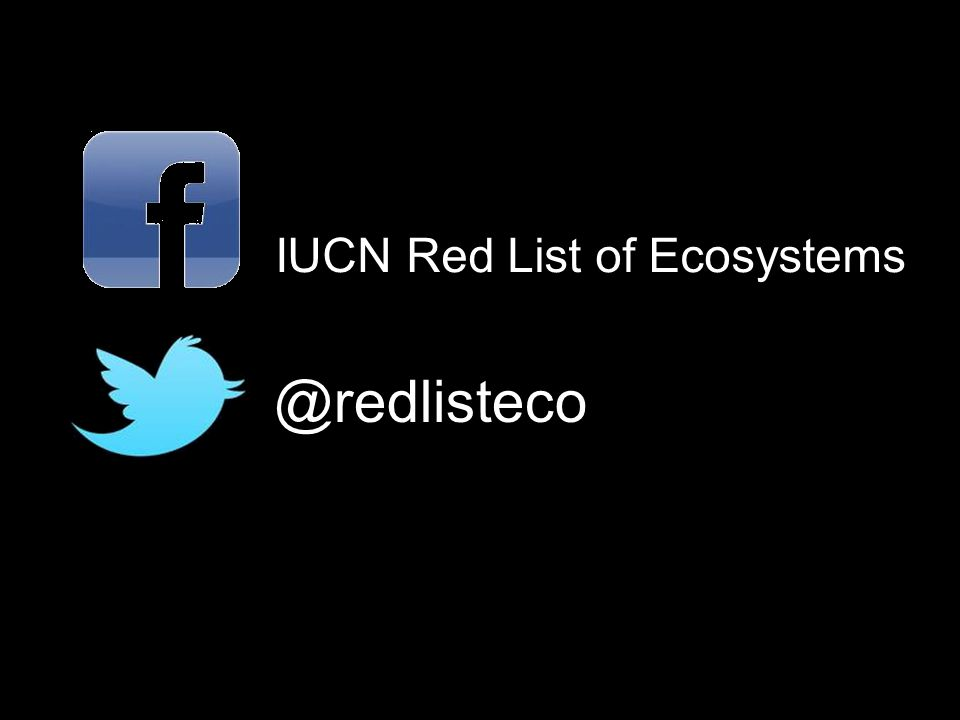 @redlisteco IUCN Red List of Ecosystems