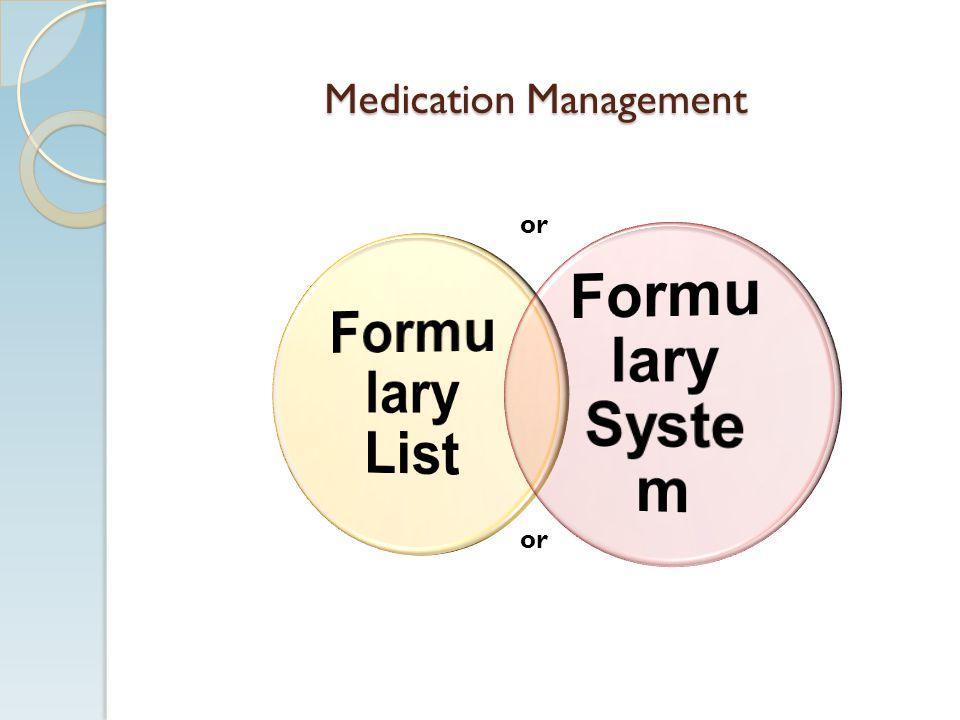 Medication Management or