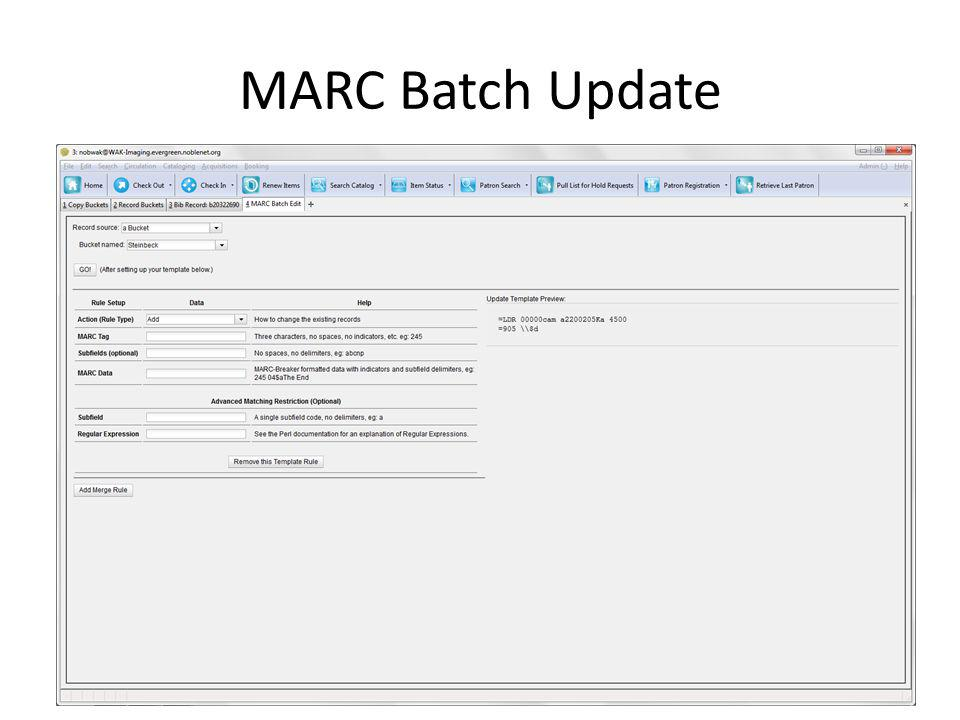 MARC Batch Update
