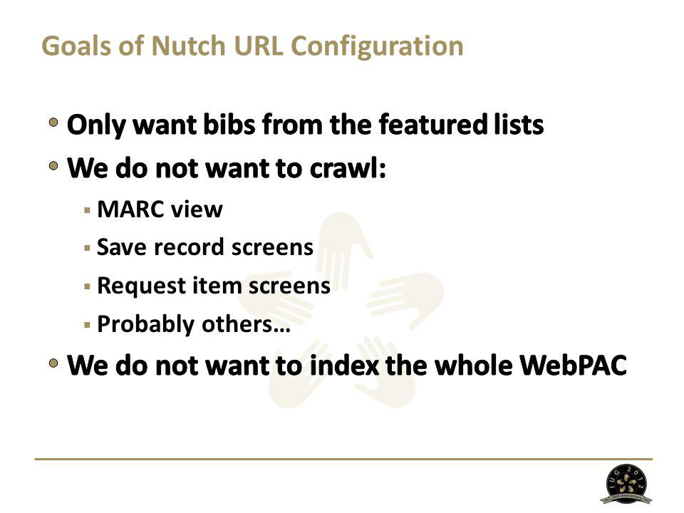 Goals of Nutch URL Configuration