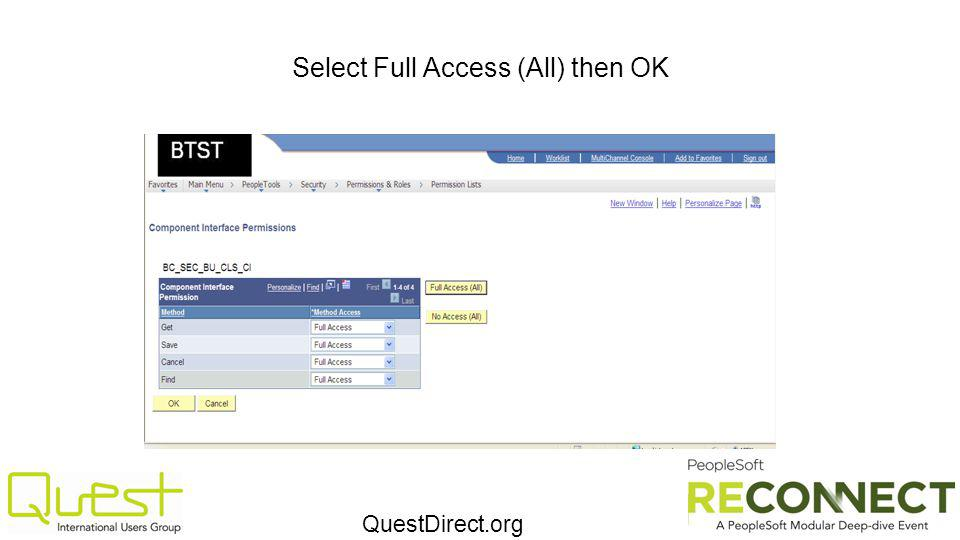 QuestDirect.org Select Full Access (All) then OK