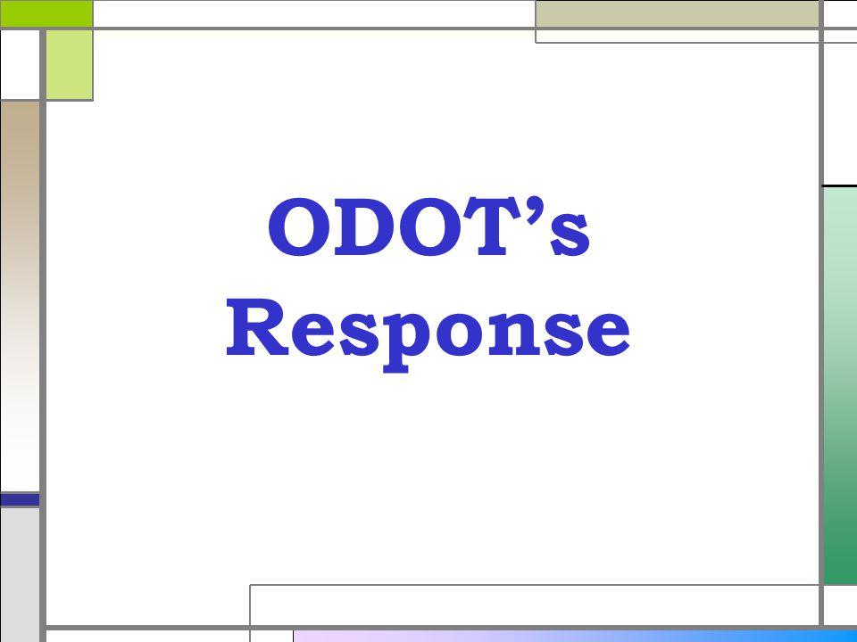 ODOTs Response