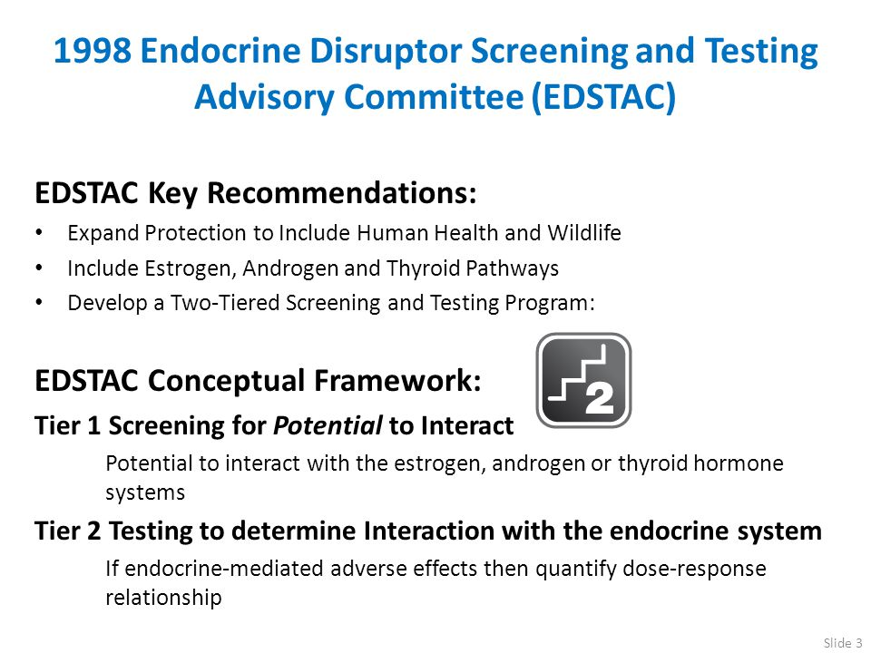 1998 Endocrine Disruptor Screening and Testing Advisory Committee (EDSTAC) EDSTAC Key Recommendations: Expand Protection to Include Human Health and W