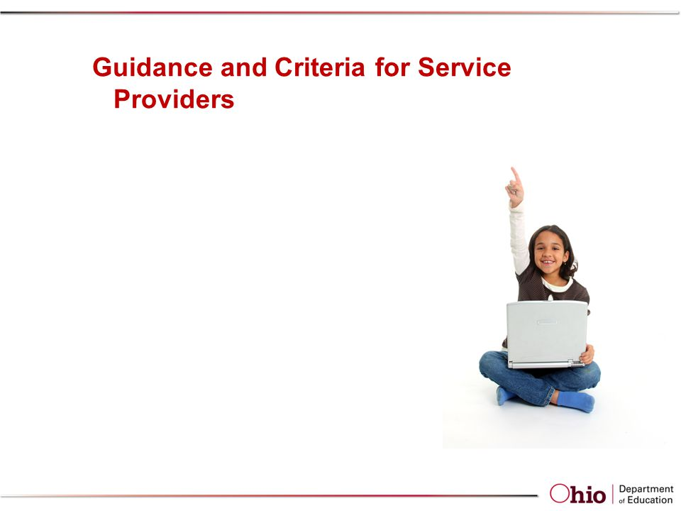 Guidance and Criteria for Service Providers