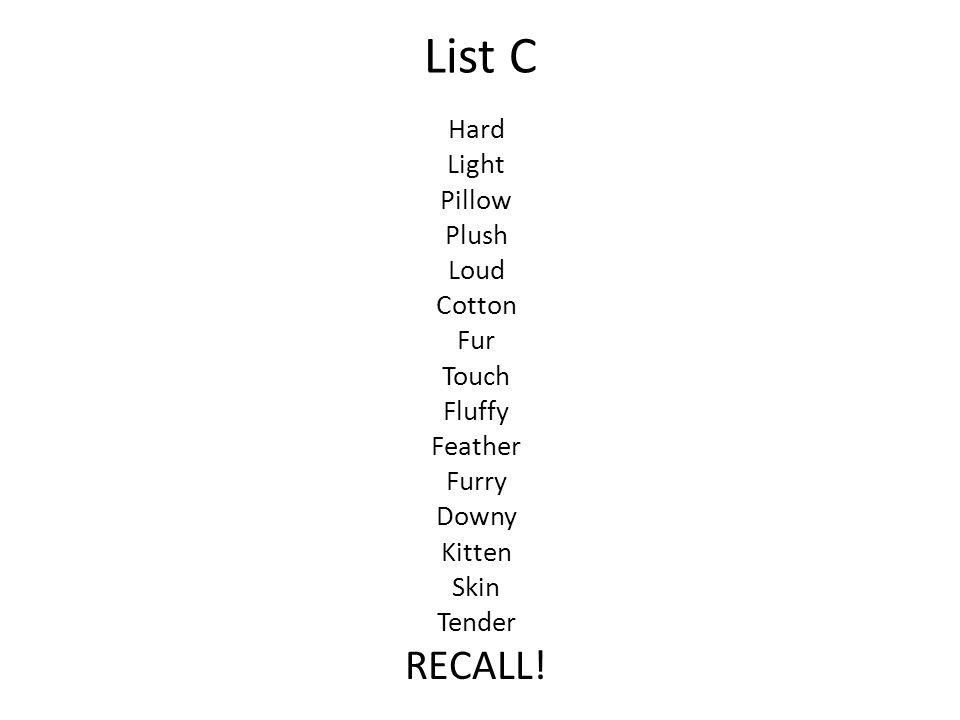 List C Hard Light Pillow Plush Loud Cotton Fur Touch Fluffy Feather Furry Downy Kitten Skin Tender RECALL!