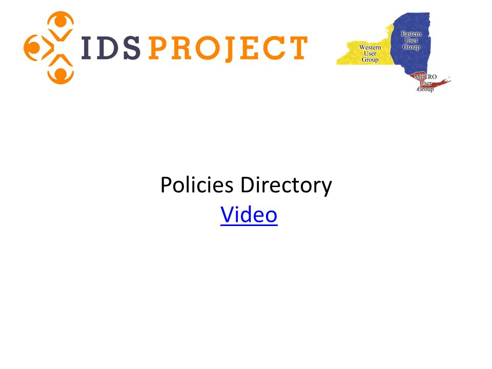 Policies Directory VideoVideo