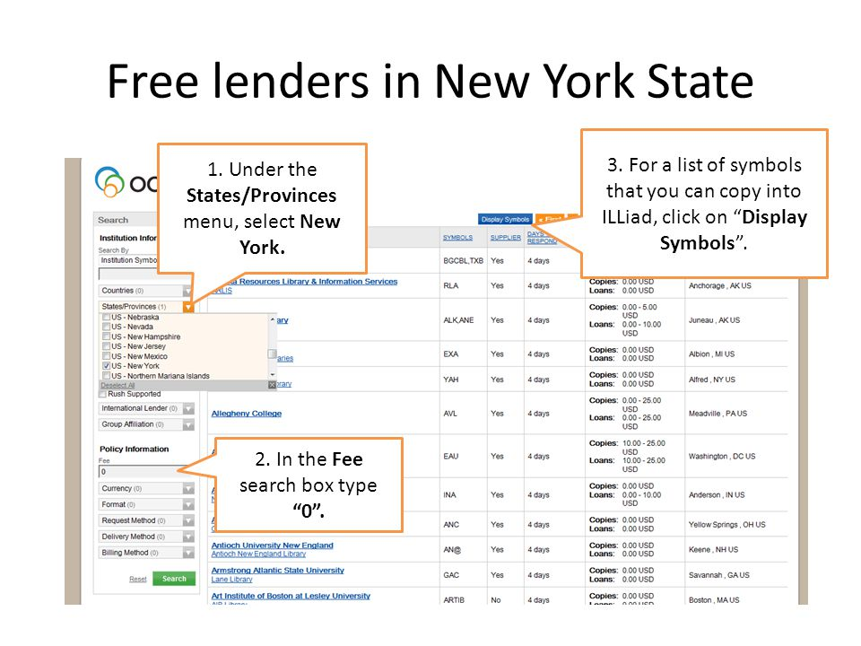 Free lenders in New York State 3.