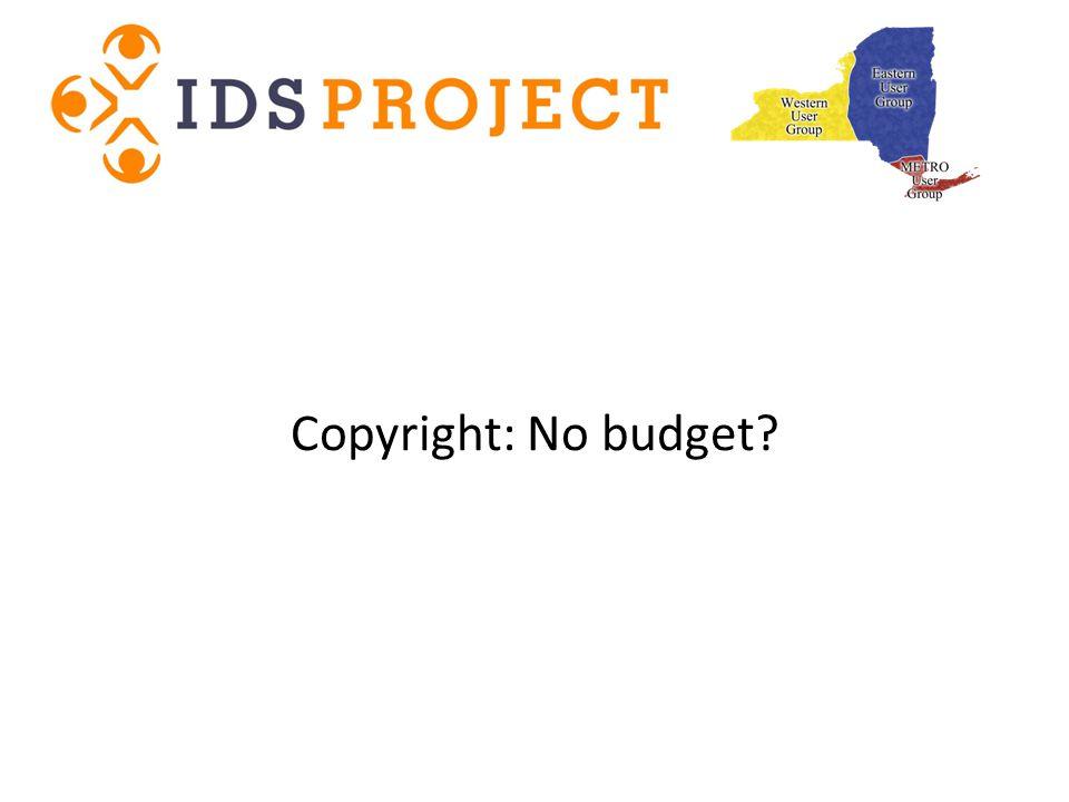 Copyright: No budget?