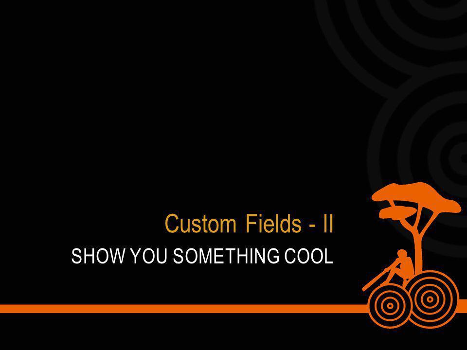 SHOW YOU SOMETHING COOL Custom Fields - II