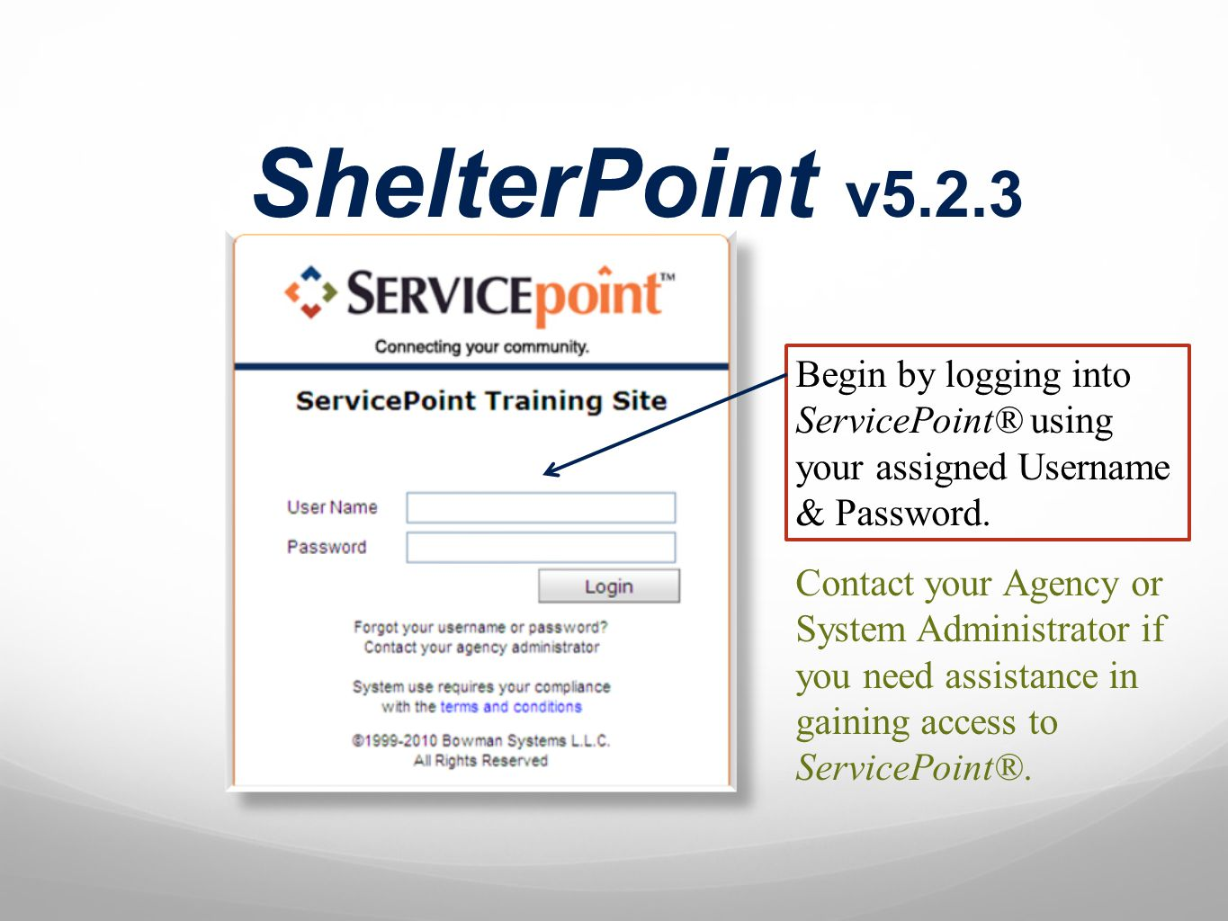 Referrals Emergency Shelter and Transitional Housing Workflow: Check in Referrals
