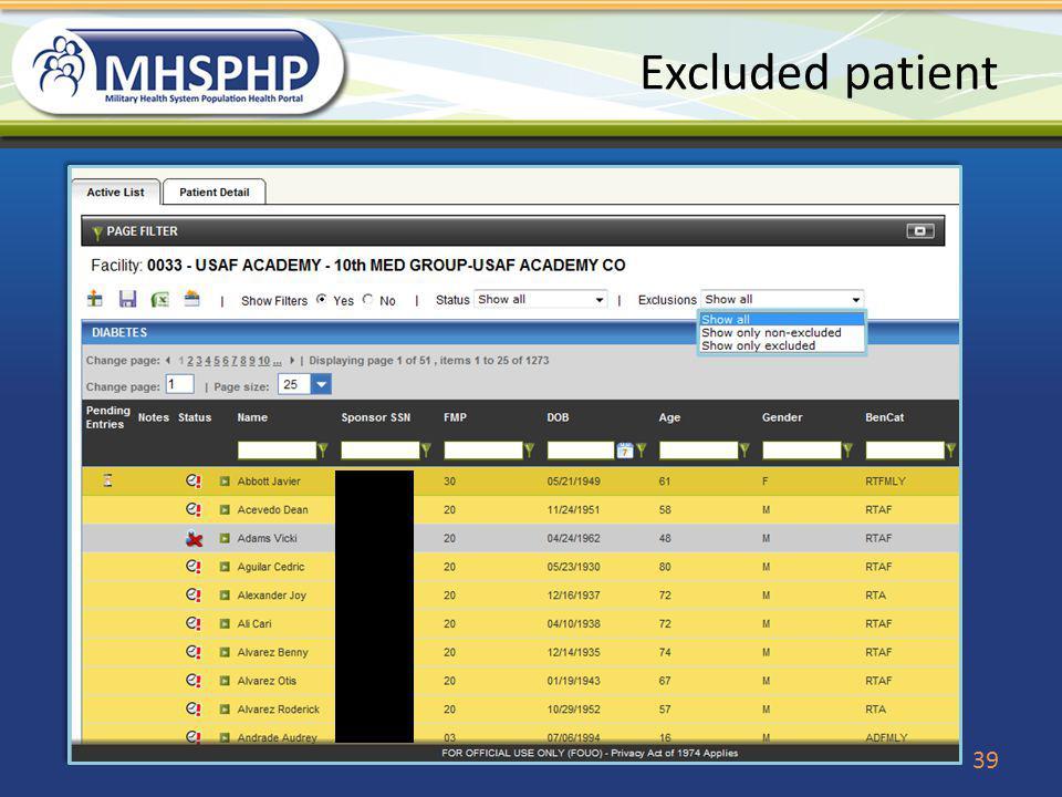 Excluded patient 39