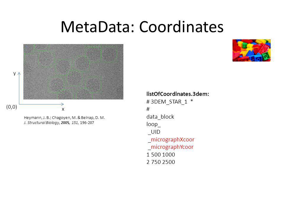 MetaData: Coordinates Heymann, J. B.; Chagoyen, M.