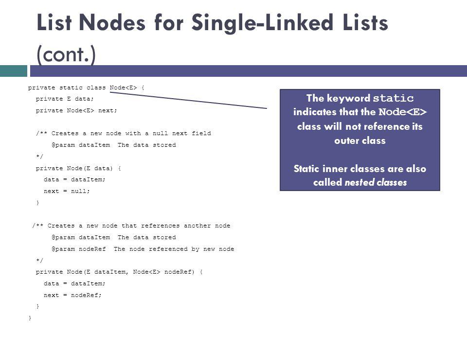Adding to the Tail of the List Node next = prev = null data = Tom KWListIter nextItem = null lastItemReturned = null index = 2 if (nextItem == null) { Node newNode = new Node (obj); tail.next = newNode; newNode.prev = tail; tail = newNode }...