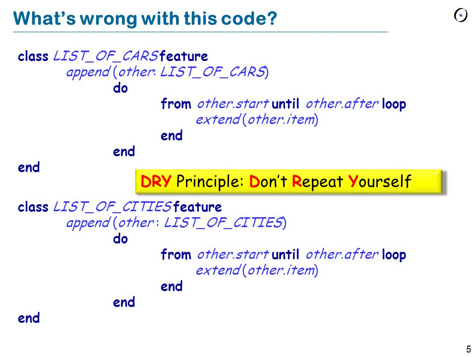 4 Whats wrong with this code.