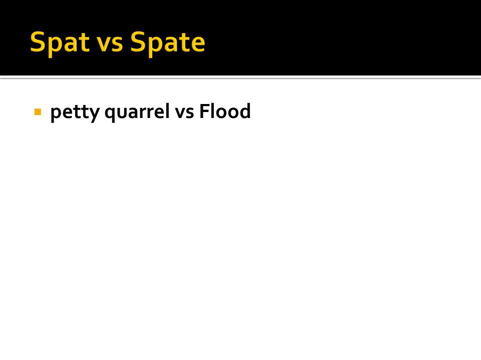 petty quarrel vs Flood