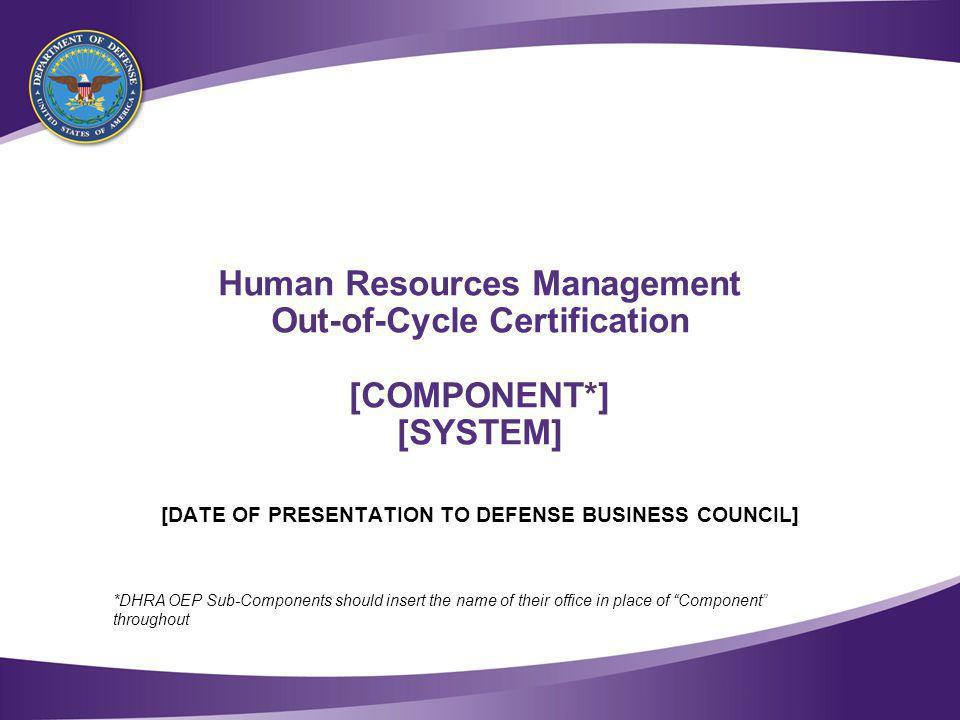 Table of Contents [COMPONENT] Human Resource Management (HRM) Portfolio Overview Program Overview Investment Detail [COMPONENT] Systems FY[XXXX] Requests Portfolio Transition Timeline 1