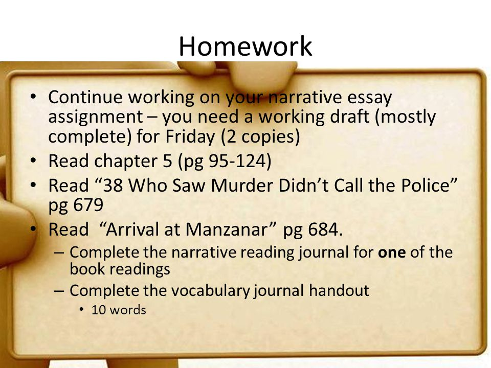 Essay writing homework