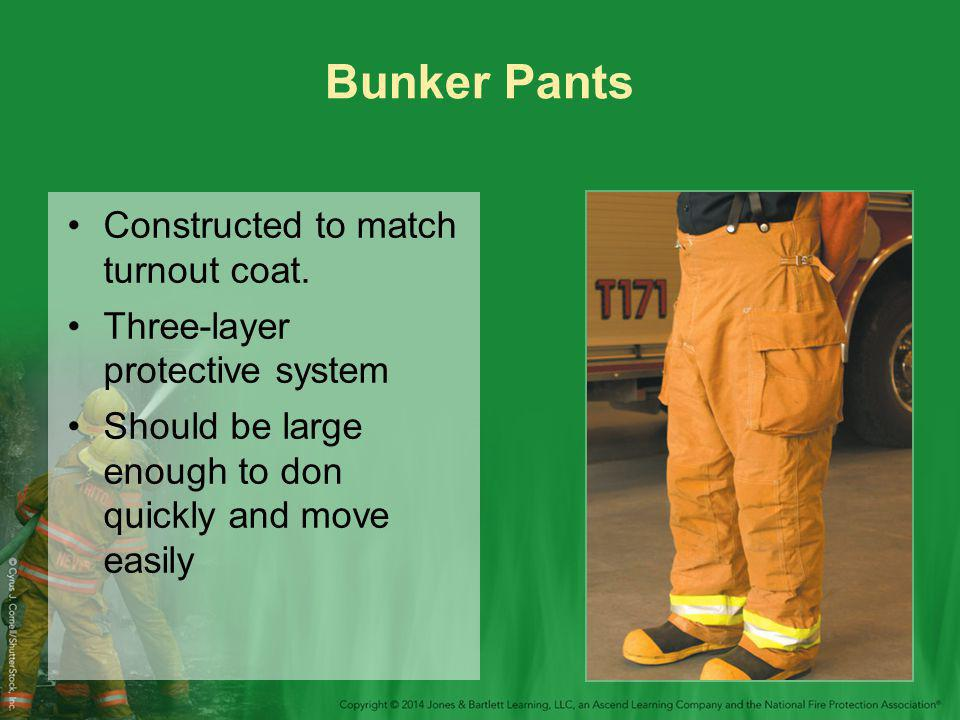 Bunker Pants Constructed to match turnout coat.