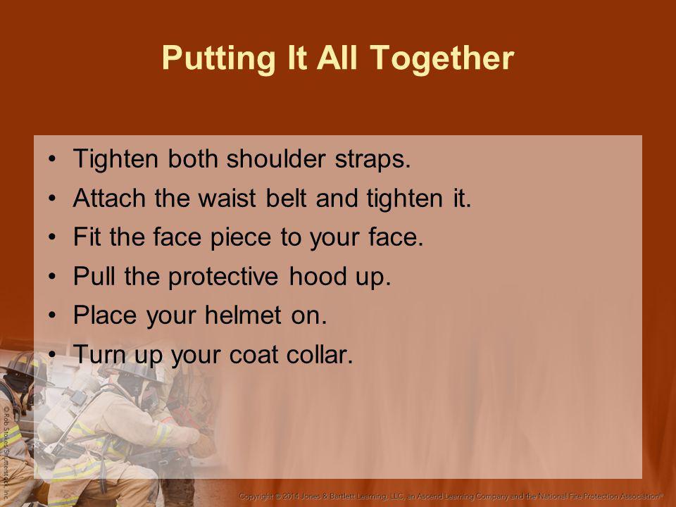 Putting It All Together Tighten both shoulder straps.